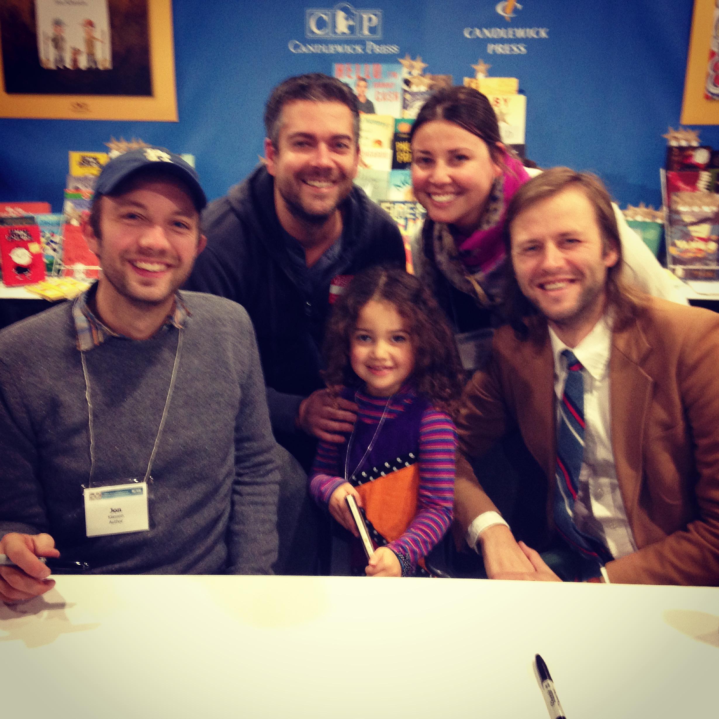 My family with  Jon Klassen  and  Mac Barnett .