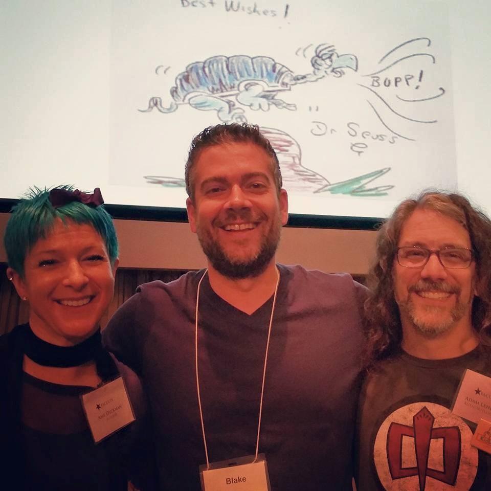 A Blake sandwichwith authors, Ame Dyckman andAdam Lerhaupt.