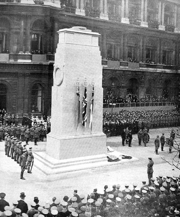Whitehall Cenotaph unveiling 1920