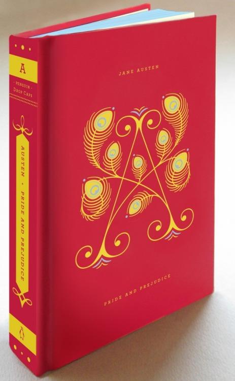 Penguin's Drop Cap edition of Austen's  Pride and Prejudice . Cover design by Jessica Hische.