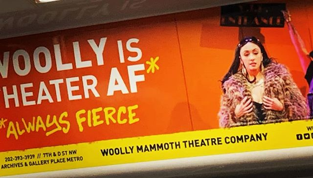 Nice to know the always fierce AF Miss Betty #3 is all over the @wmata repping @woollymammothtc. Now when can this Caribbean Mediterranean actually come back and play at your fierce AF Theeah-tah again Woolly? Asking for a friend. 😉🙏 #CollectiveRage