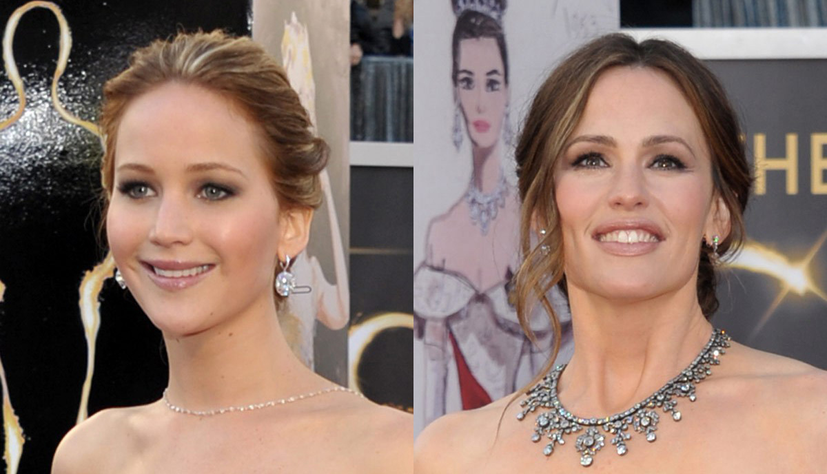 Jennifer Lawrence and Jennifer Garner
