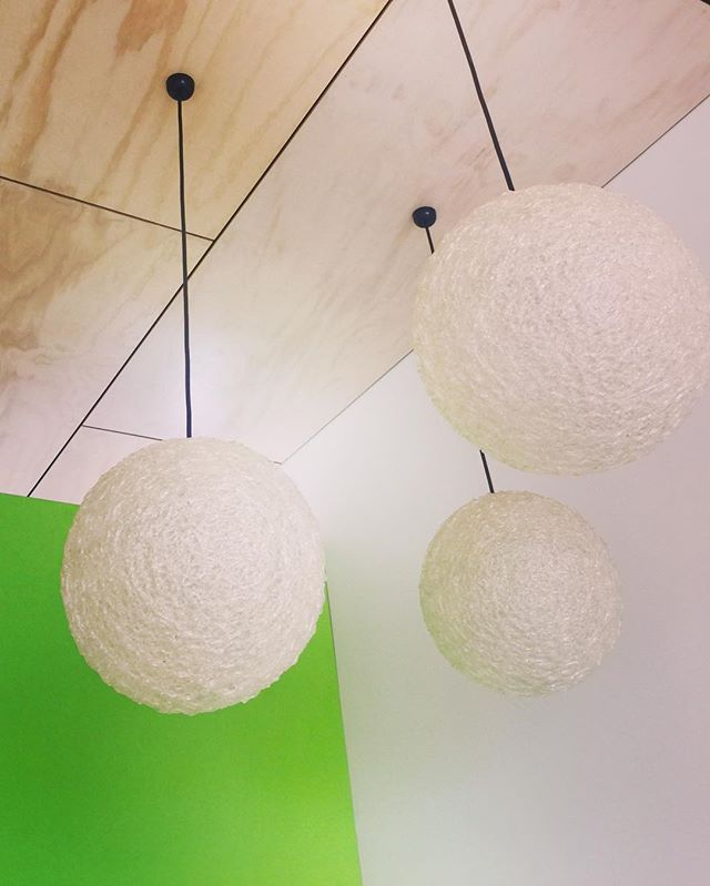 """How's the """"juicy"""" textured laminate with retro spaghetti lights & shadow lined ply ceiling on one of our current projects.. Looking good for santa in 2 weeks.."""