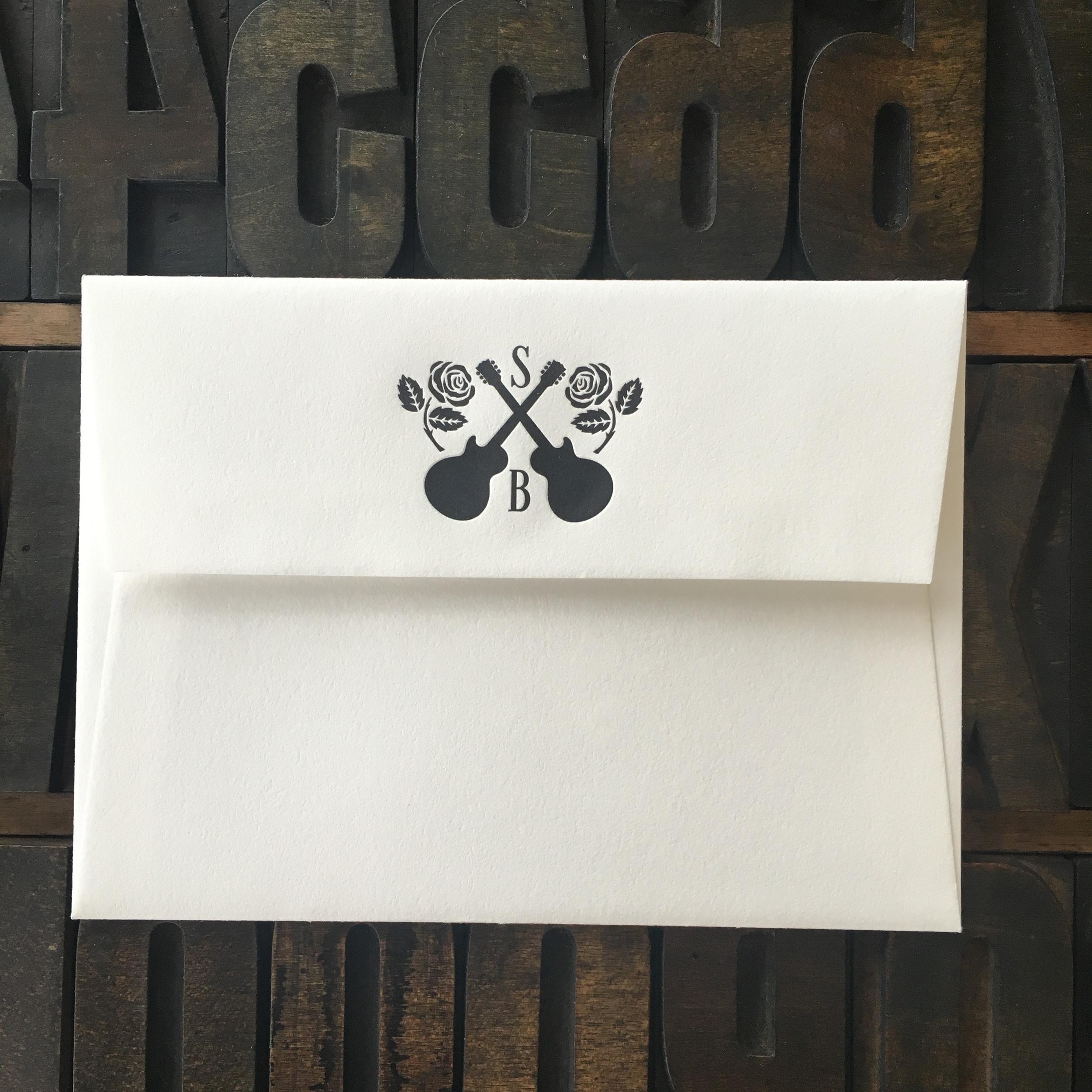 US A6, Letterpress Flap