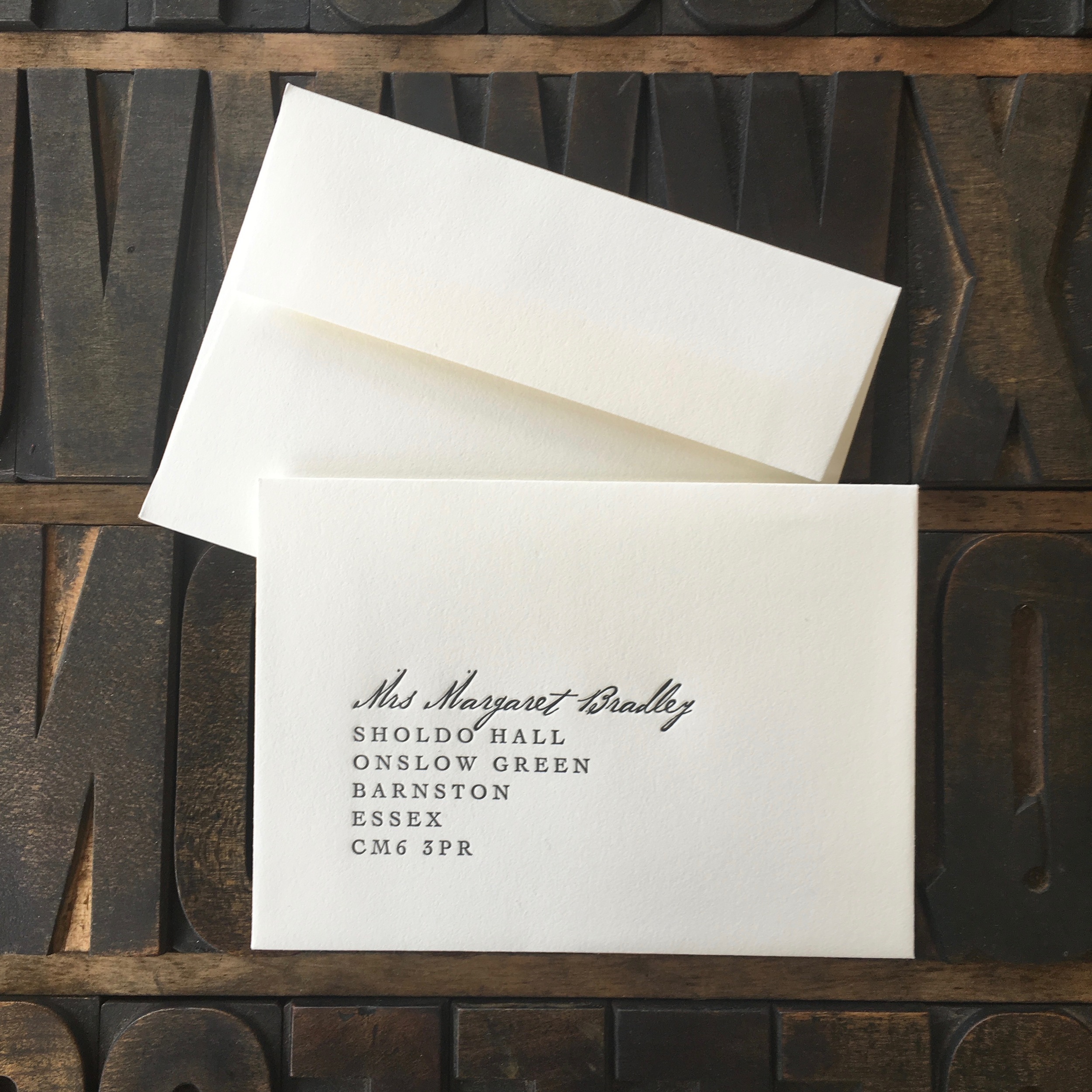 4-Bar Letter Press Face