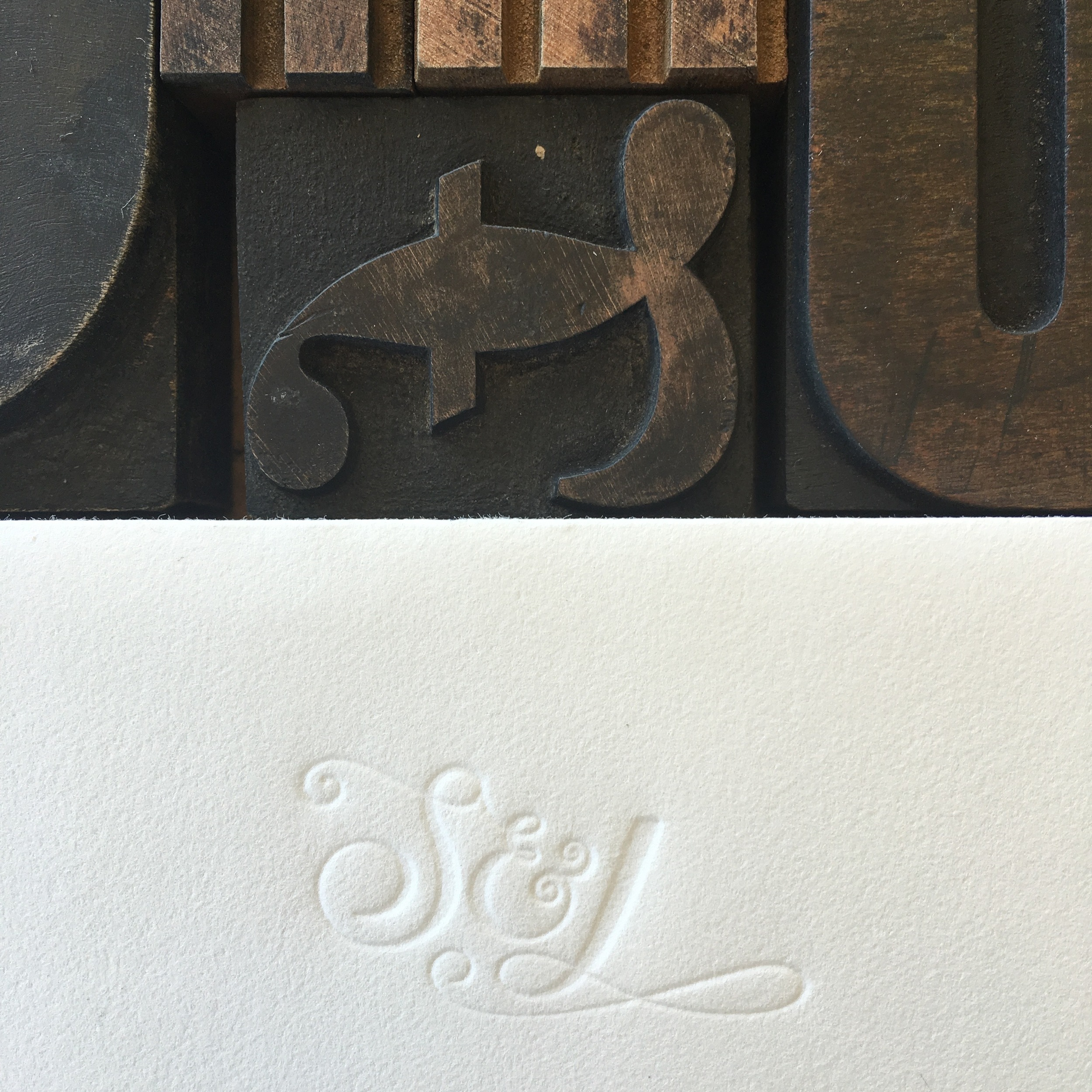 Blind Letterpress Flap