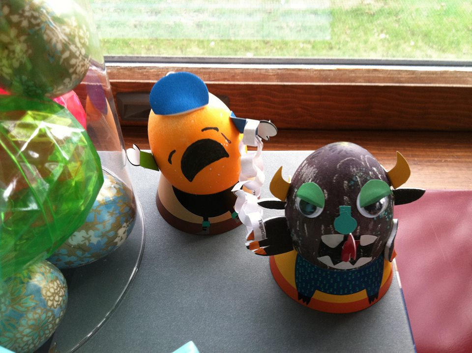 Krampus Easter eggs that my friend, Allison and I made.