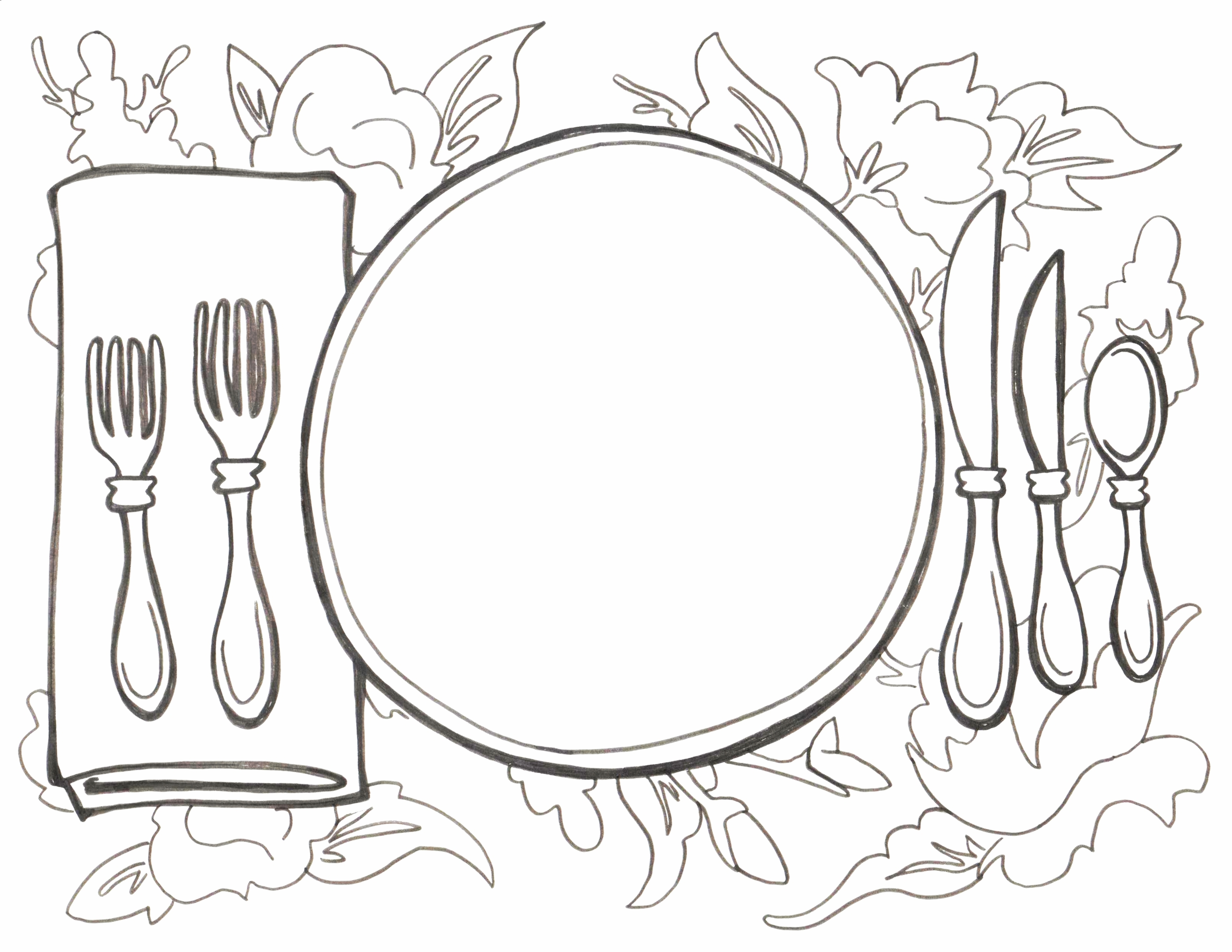 Either draw what's for dinner, or design the perfect china pattern! Both are appropriate!