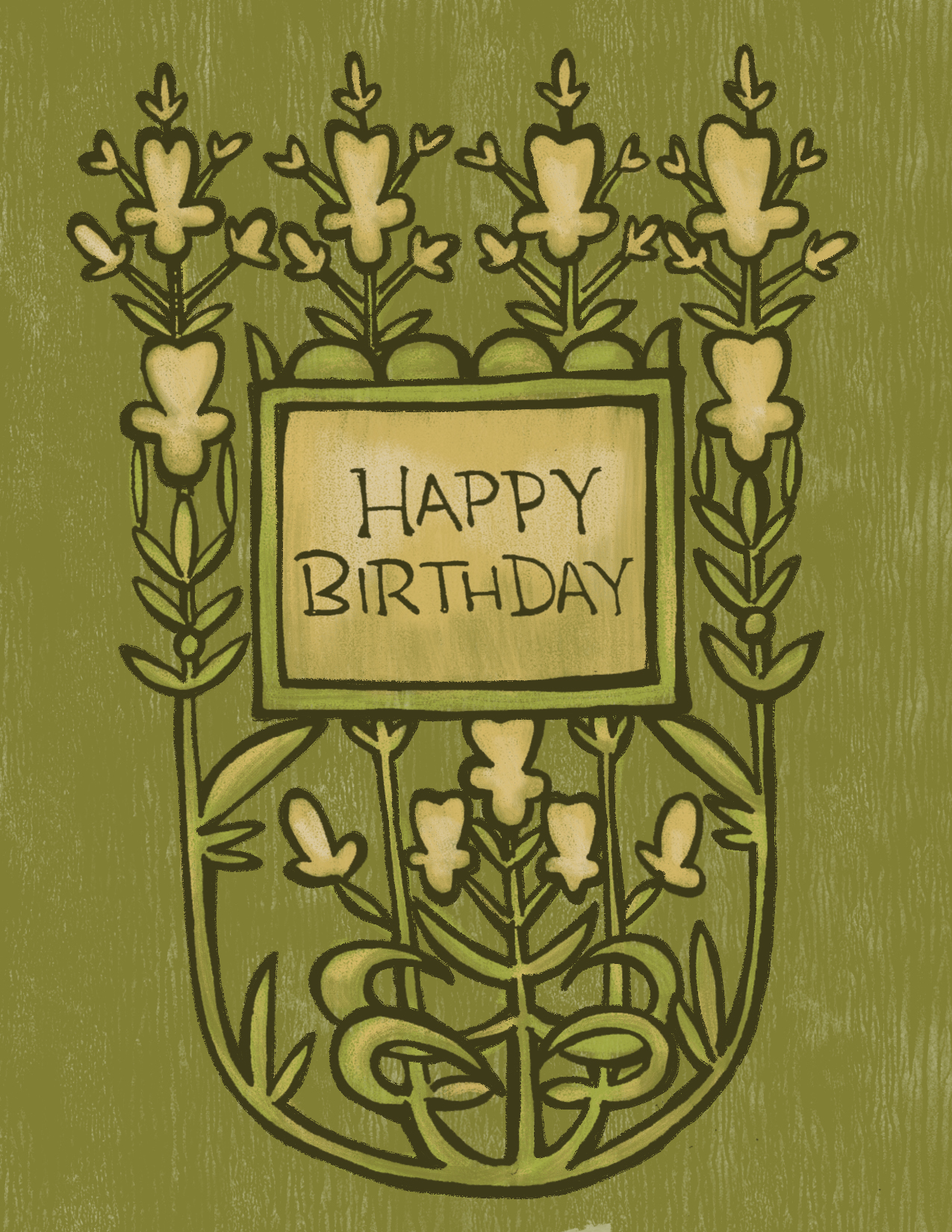 Happy Birthday Green Floral.jpg