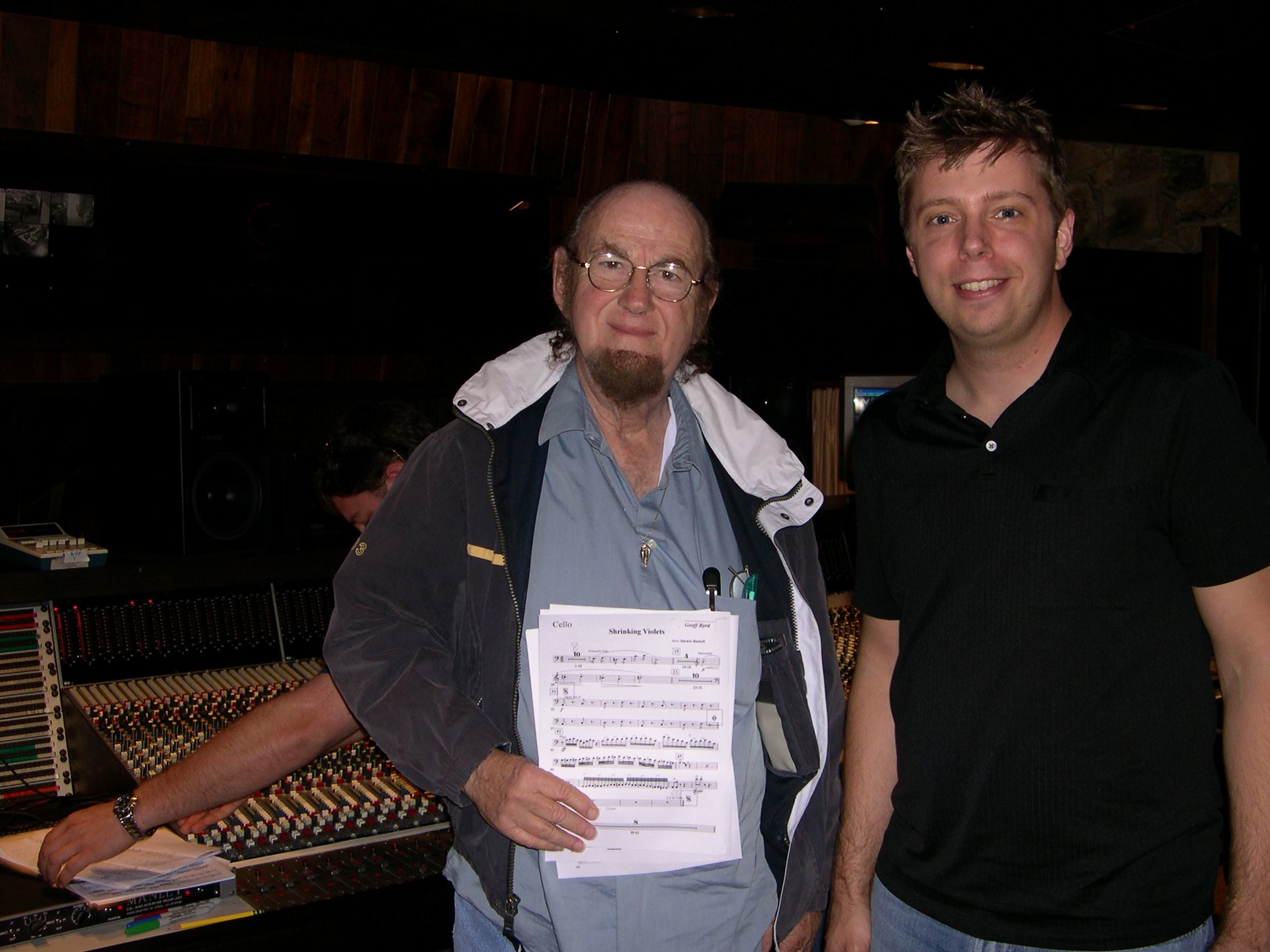 Steve with Grammy Award-Winning string arranger  Jimmie Haskell