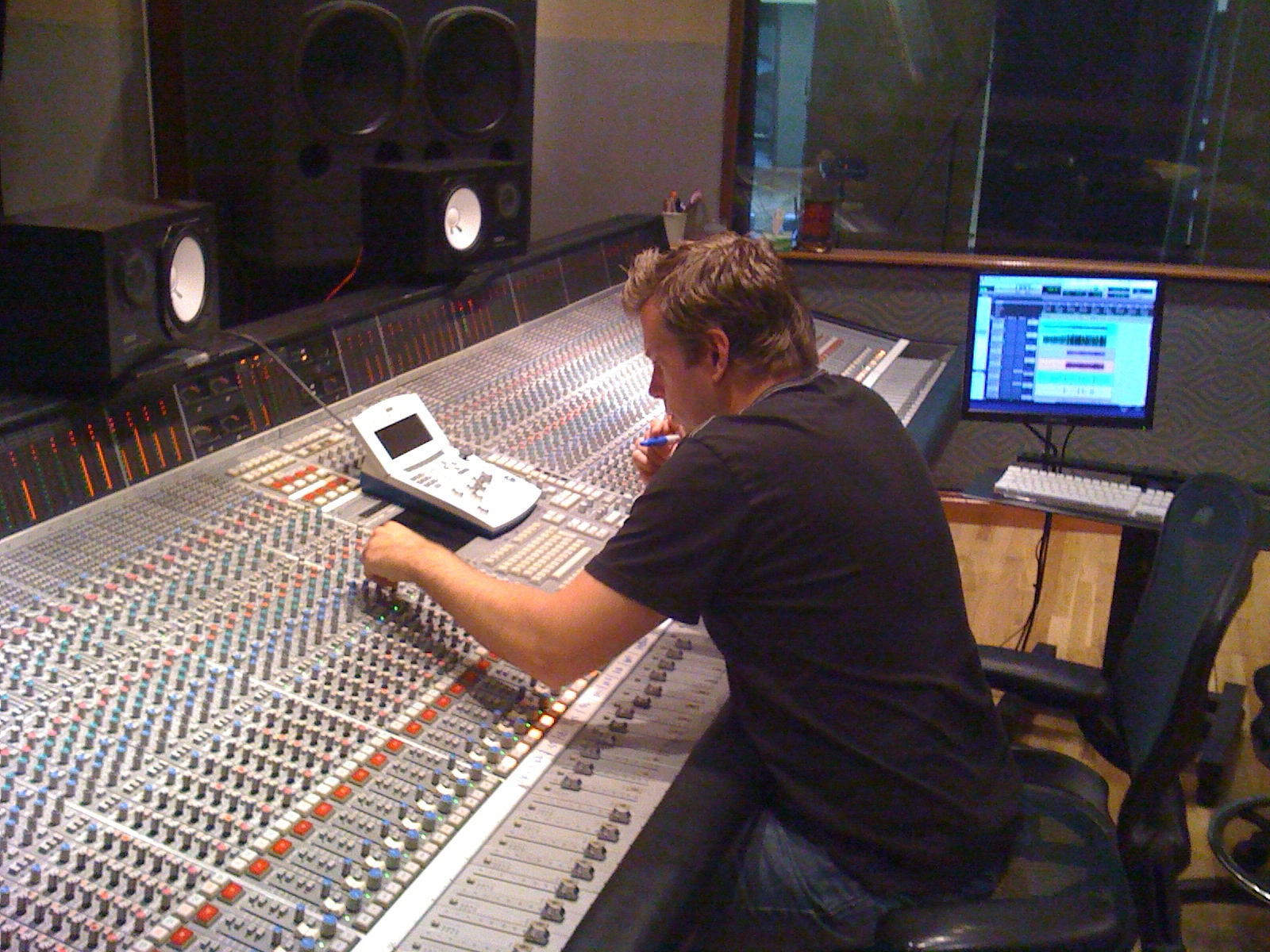 Mixing at  Crossroads Productions
