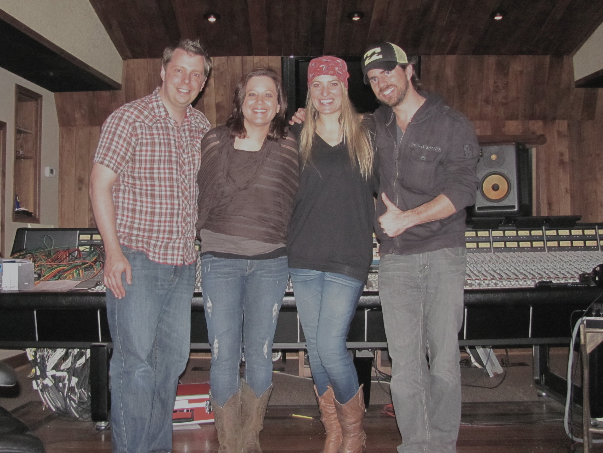 Tracking at Fool On The Hill Studios in Nashville with songwriting partners  Cloverdayle  and Steve's wife,  Michelle