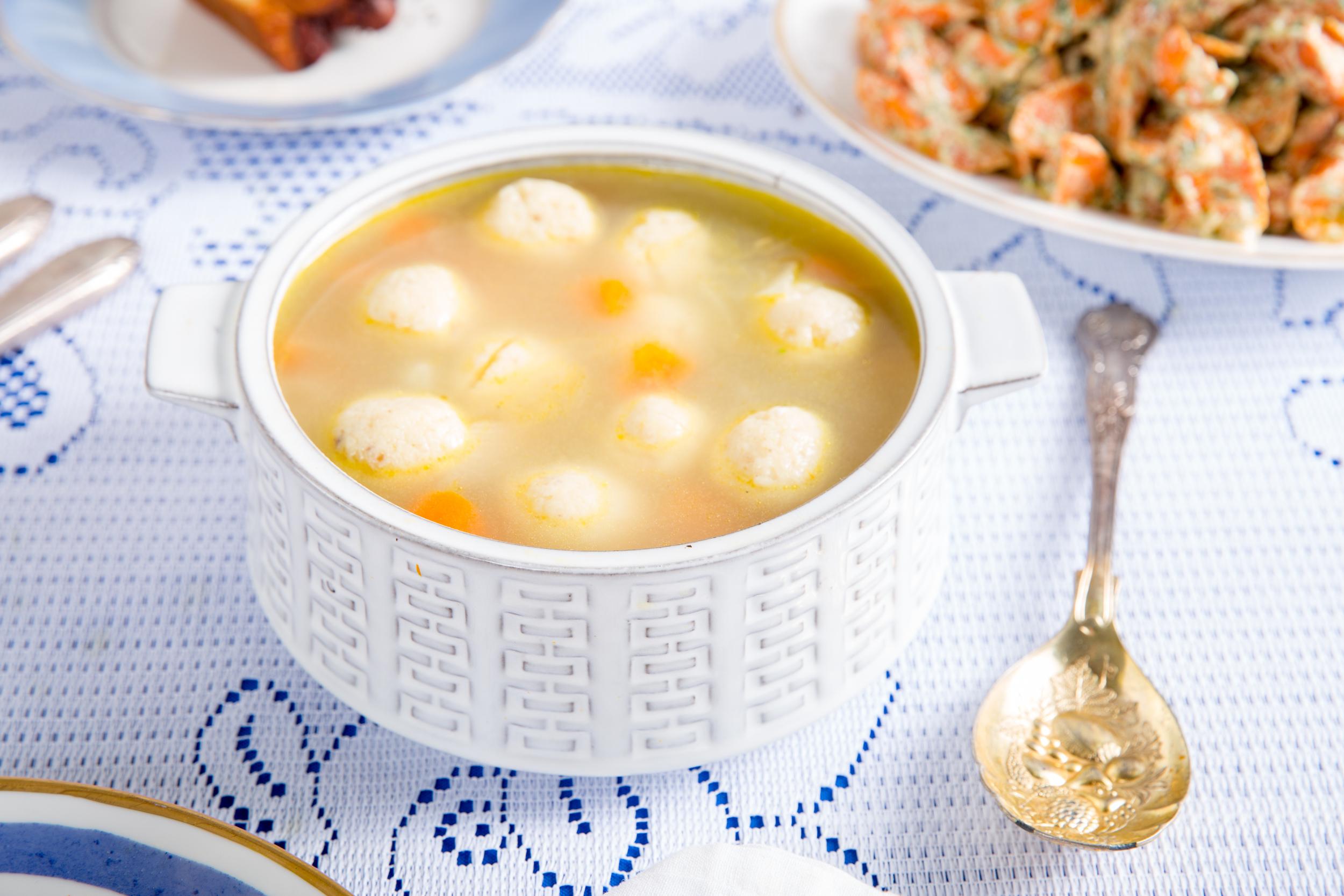 Hanukkah Matzo Ball Soup