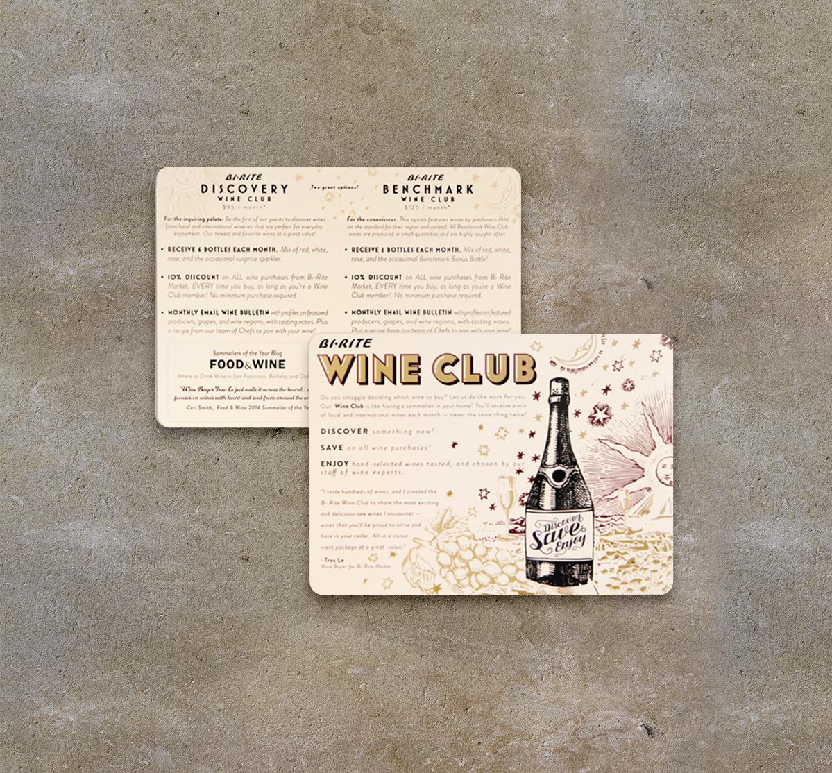 Wine Club Post Card