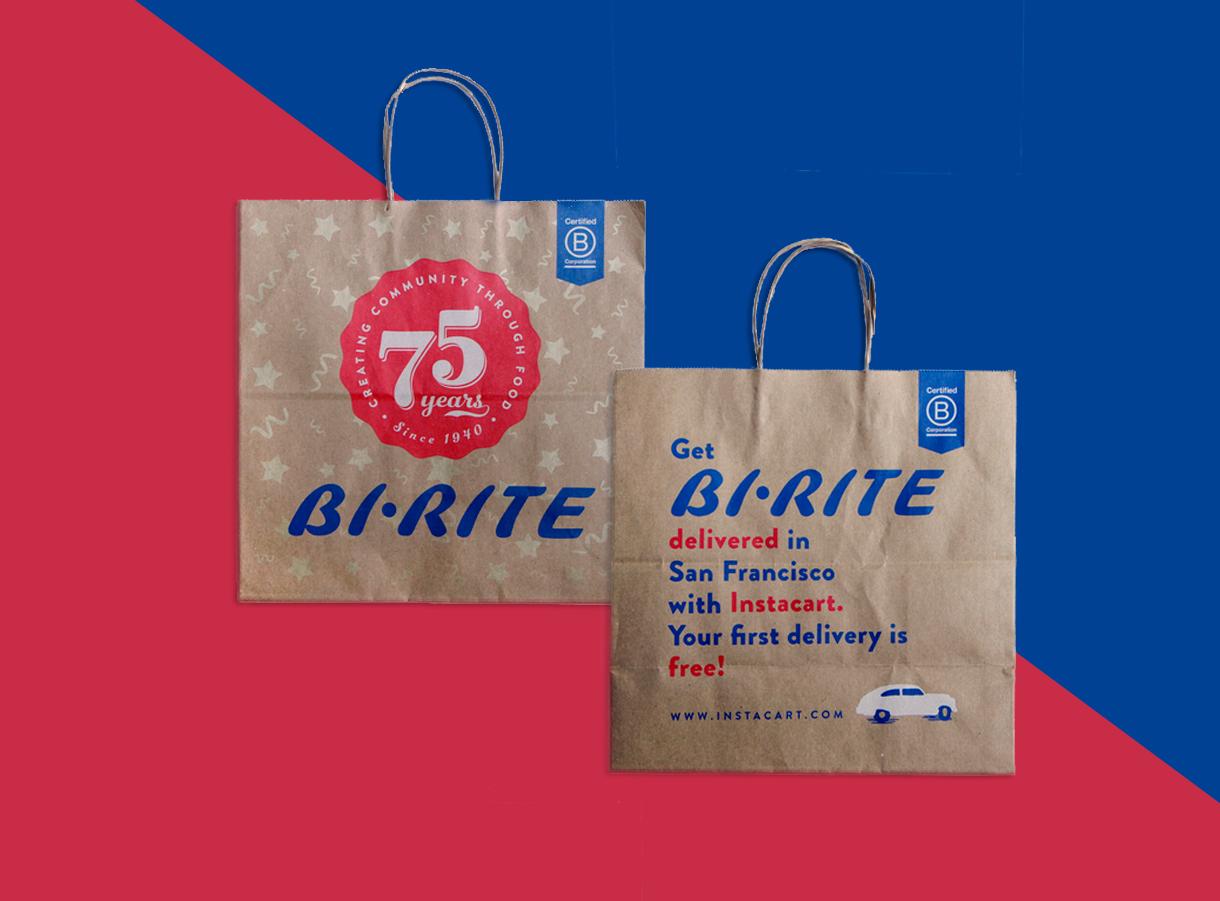 75h Anniversary Grocery Bag