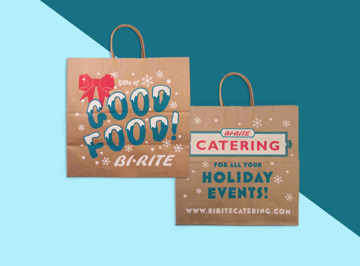 Holiday Grocery Bag