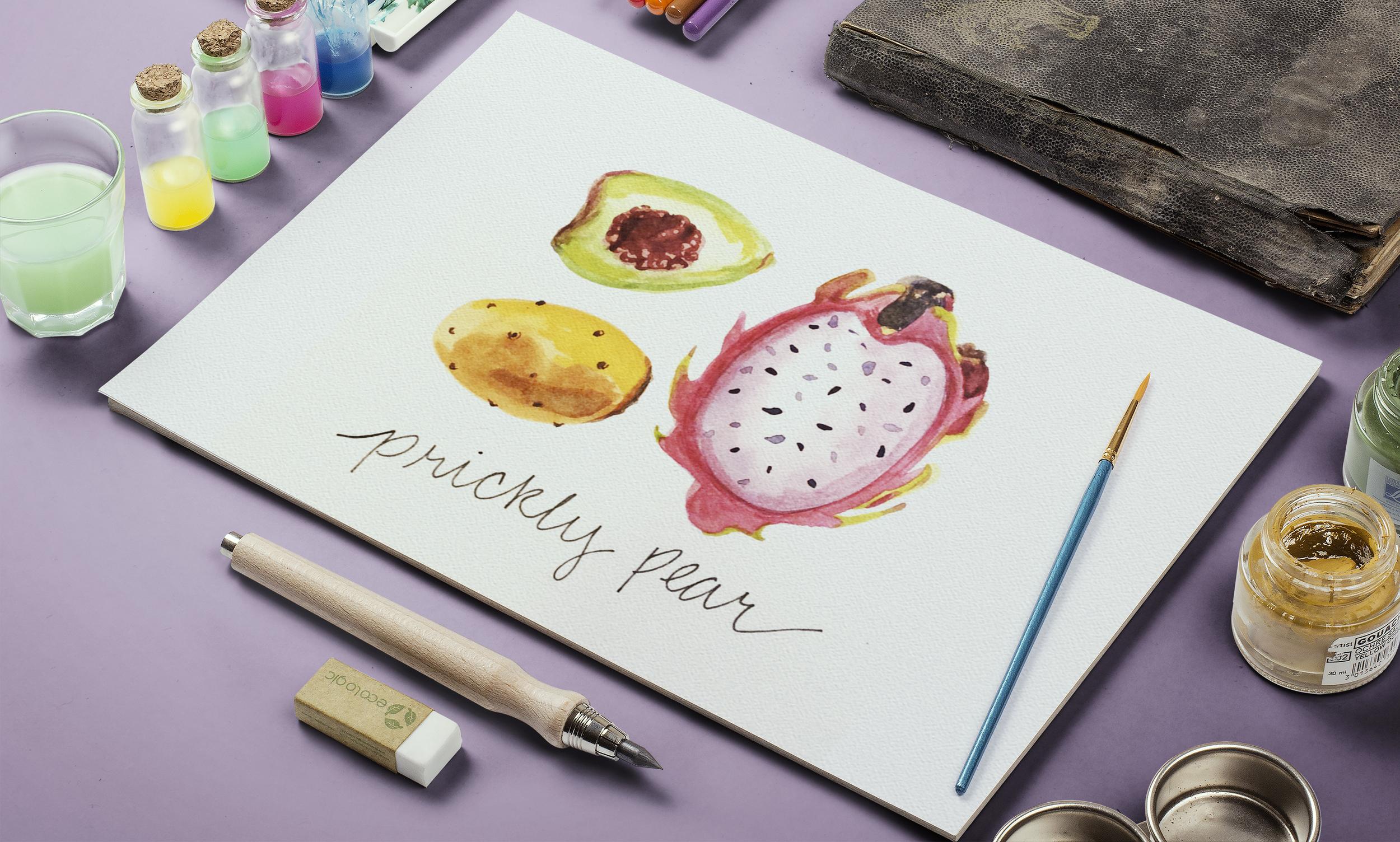 Nopales Watercolor