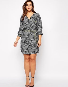 Junarose Printed Shirtdress $67