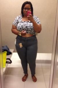 Grey Skinny Jeans $90