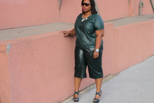 Eloquii  Faux Leather Culottes and Vince Camuto  Shayla Platforms