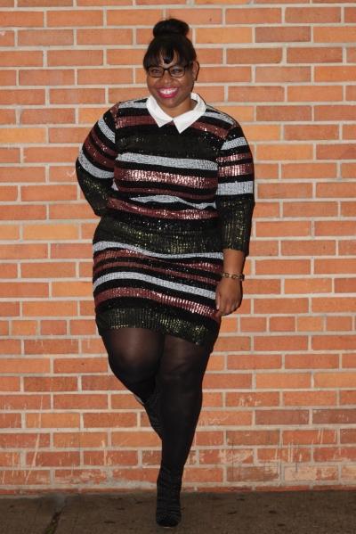 Eloquii  Sequin Dress  and  Booties