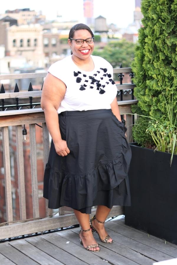 Eloquii Flounce Ruffle Skirt