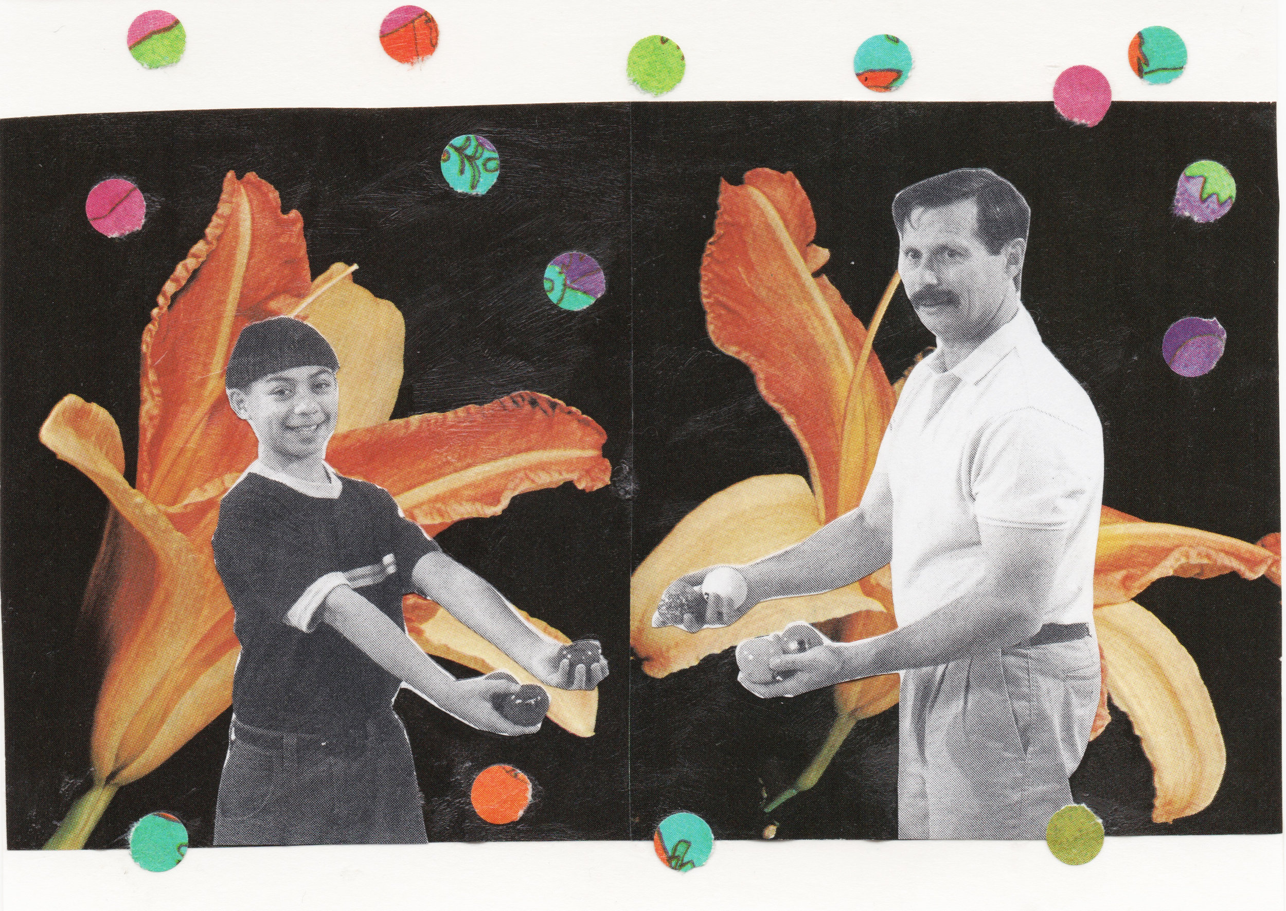 Jugglers   2017  Collage  4x6 inches