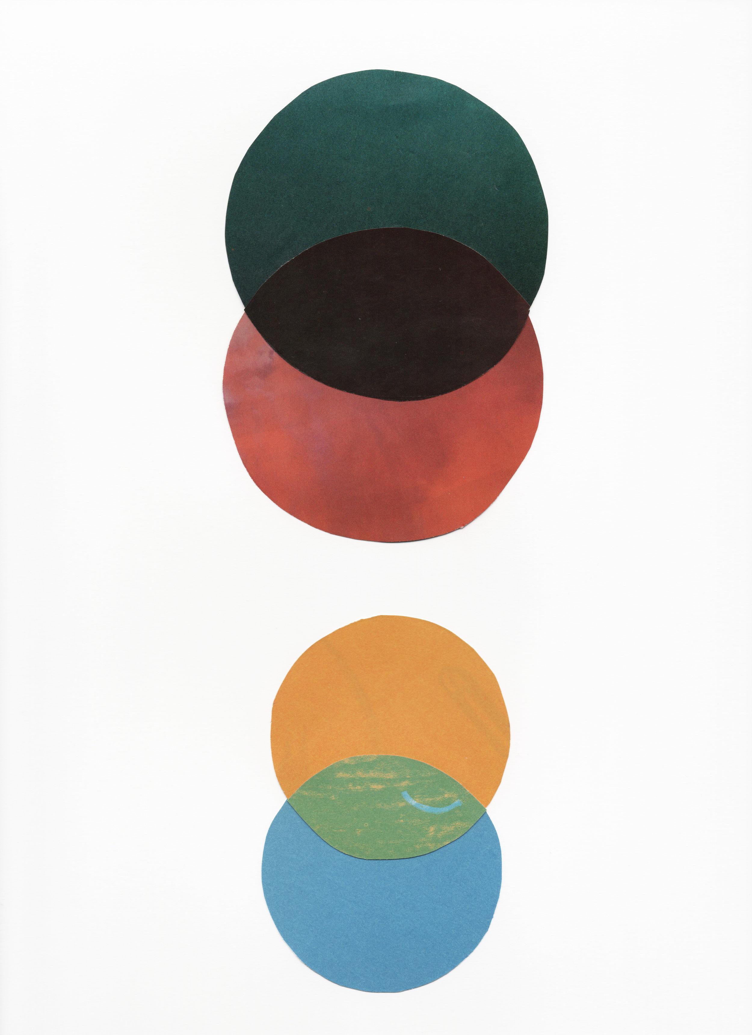 Color Study I   2017  Cut Paper on Bristol  9 x 12 inches
