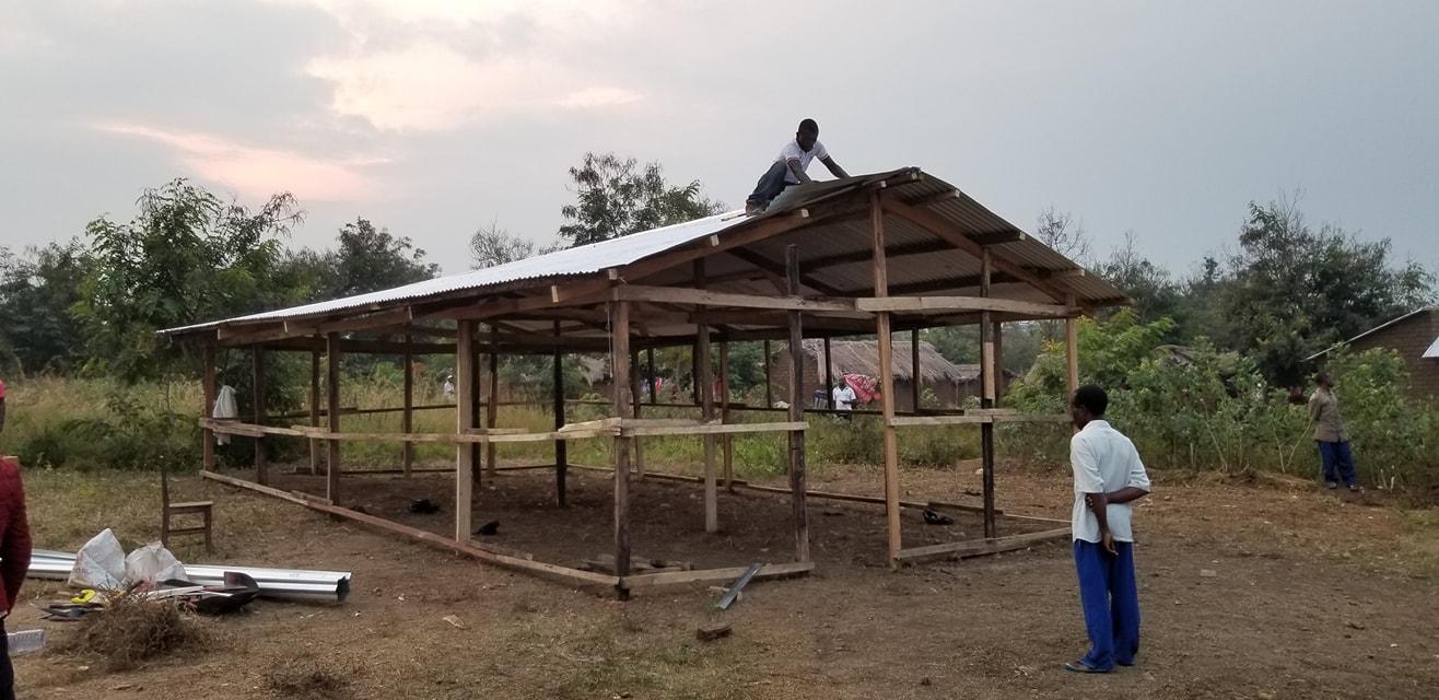 New home of Calvary Chapel Sebele! They will finish the walls tomorrow.