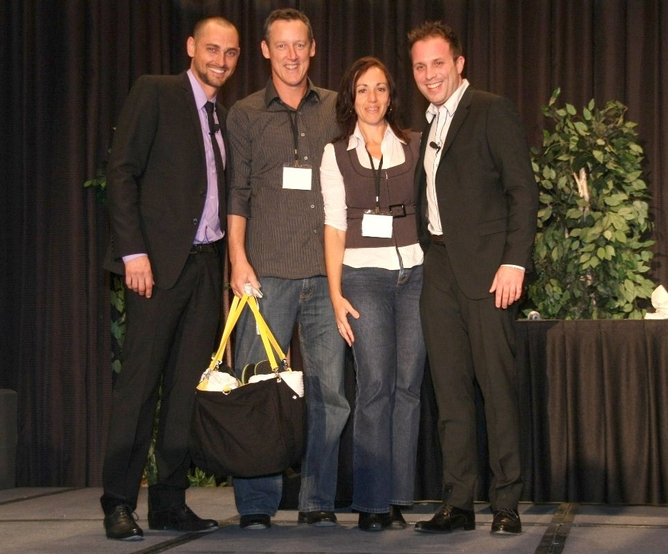 We won a holiday in the Cayman Islands as a sales award. Presented by CCPro Founders, Jay Kubassek & Aaron Parkinson.