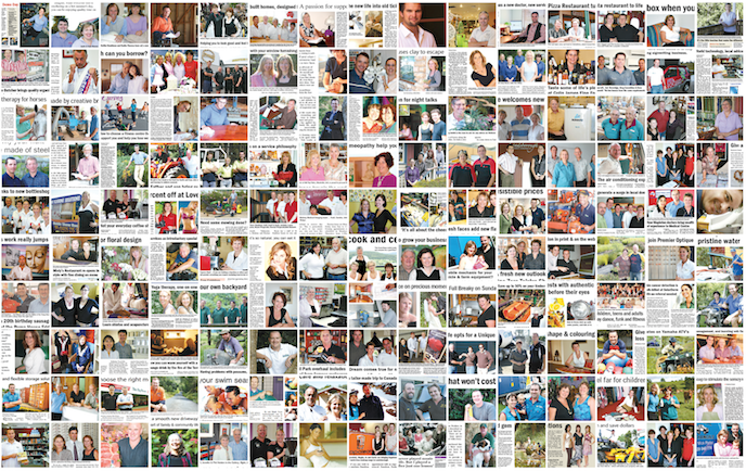 A montage of some of the stories we wrote for businesspeople at The Range News.