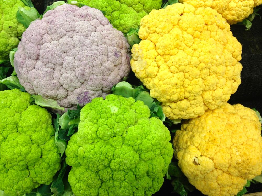 Whole Colorful Cauliflower