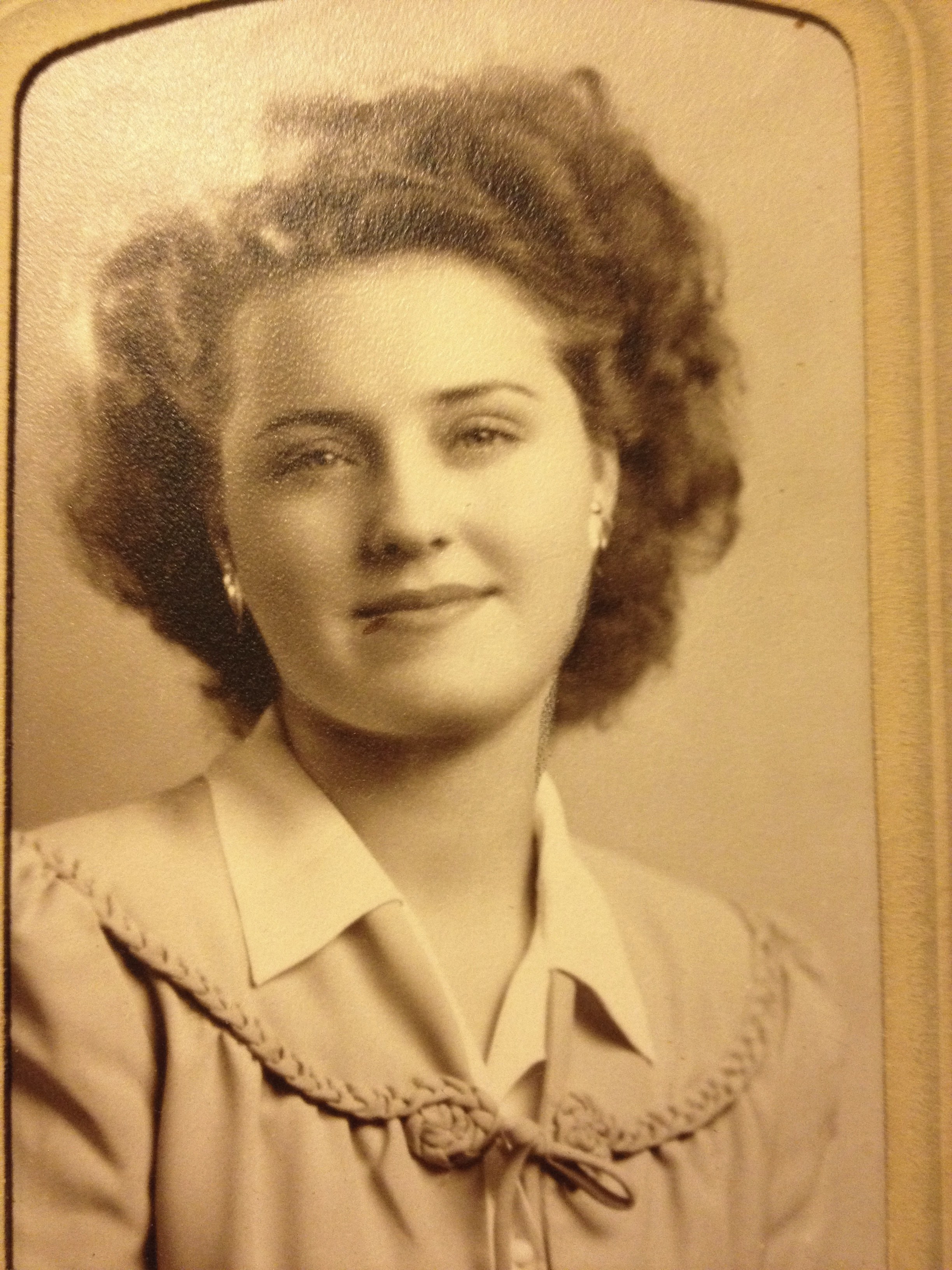 Mom when she was a young woman