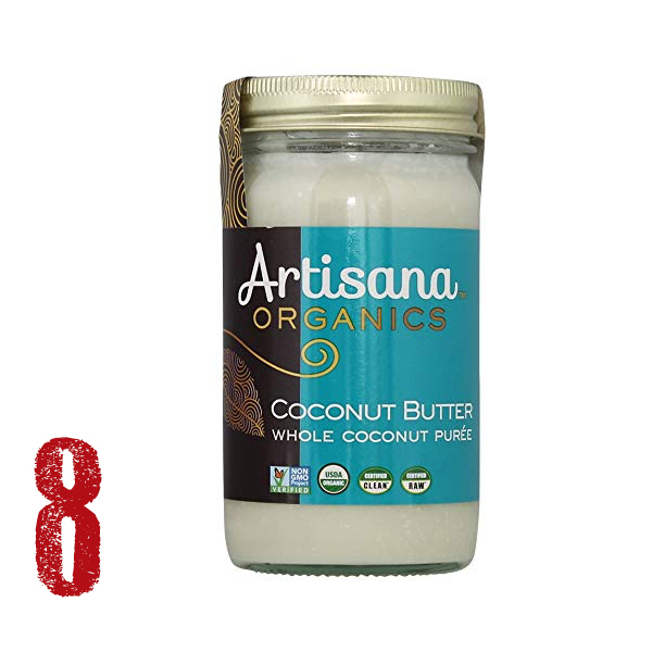 Coconut Cream or Butter (Artisana) - The secret ingredient to the most decadent chocolate mousse and truffles. It is so sweet and yummy you could eat it by the spoonful. Try my Raw Cacao Course to learn how to make the most delicious treats.