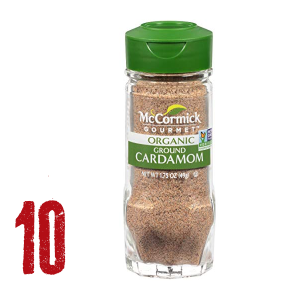 Cardamom - Mix it with coffee, Yerba Mate, or any black tea. OMG. Mix it with Barlean's Coconut Oil and Great Lakes Gelatin for the most delicious hot drink - anytime of day.