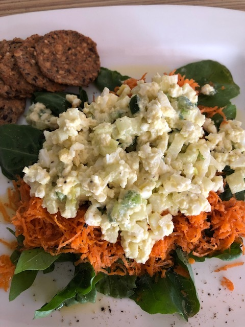 "High Protein ""Spicy"" Vegan or Vegetarian (Egg) Salad"