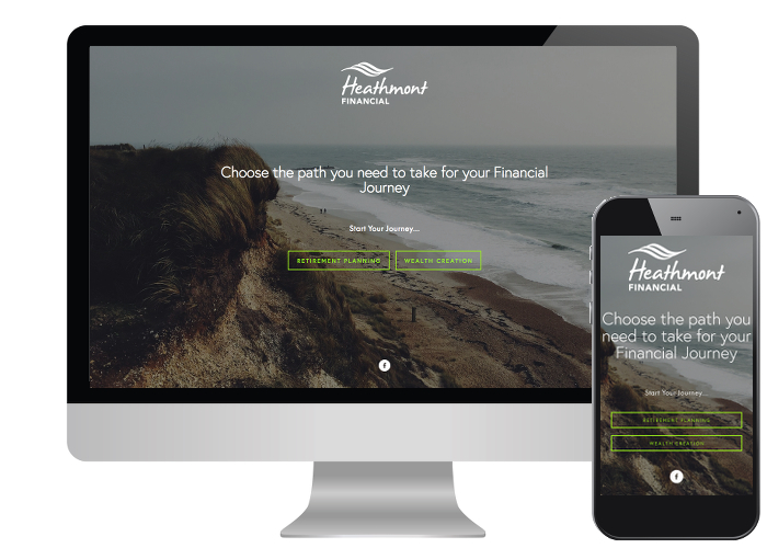 Heathmont Financial - Heathmont wanted to be able to direct their visitors down the right path for their financial needs, so a Squarespace website with landing page was the perfect option.Built on: Squarespace