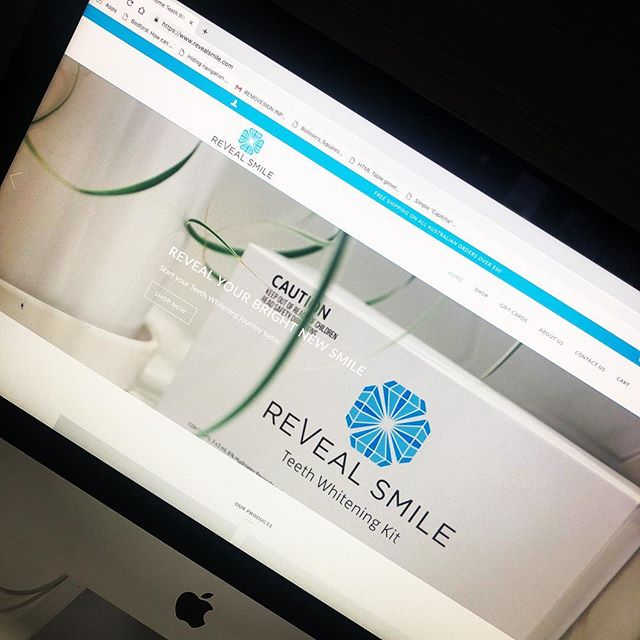 Welcome to the Insider Media family @revealsmile 😀😀 It was a pleasure working with you on your exciting new project!  #revealsmile #teethwhitening #insidermedia #webdesign #shopify #ecommerce