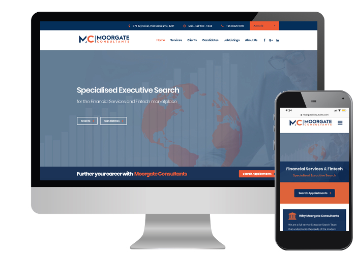 Moorgate Consultants - We had previously designed Moorgate a Squarespace website but the team decided it was time for an upgrade so we moved them to Wordpress and they are loving it!Built on: Wordpress
