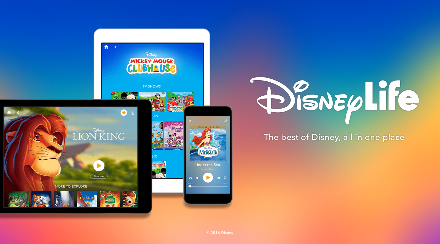 DisneyLife as it looked on launch day, November 2015.