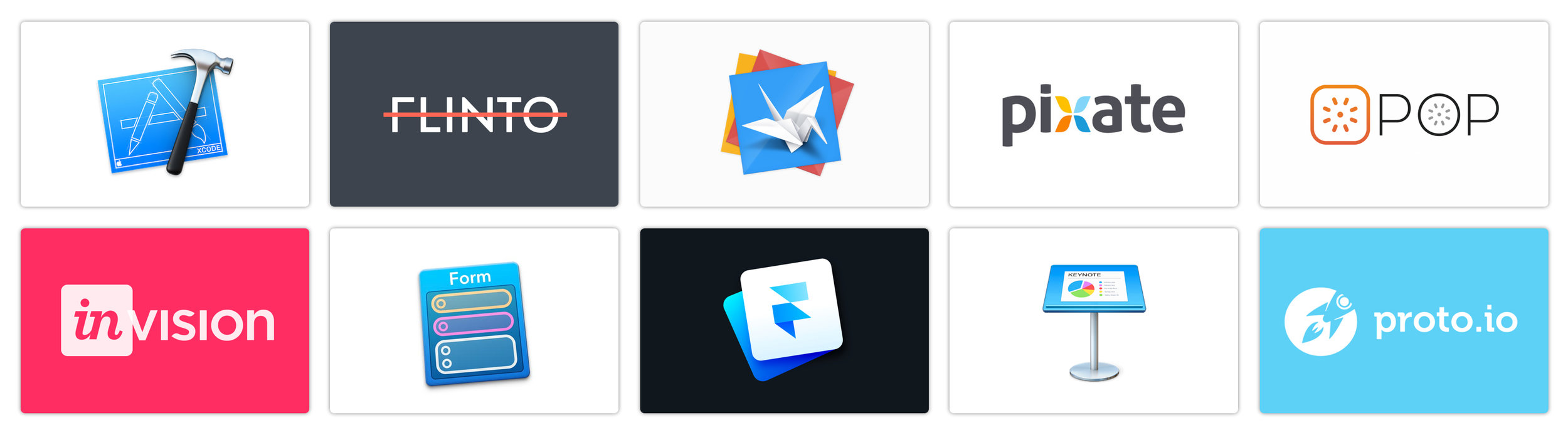 A list of the ten prototyping tools we tried in 2014-2015.