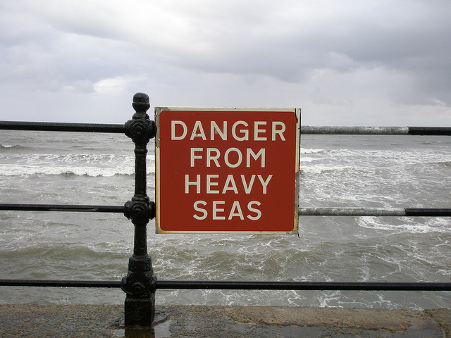Used by CC License. Danger from Heavy Seas by Anne.  http://ow.ly/CyQN3005z9p