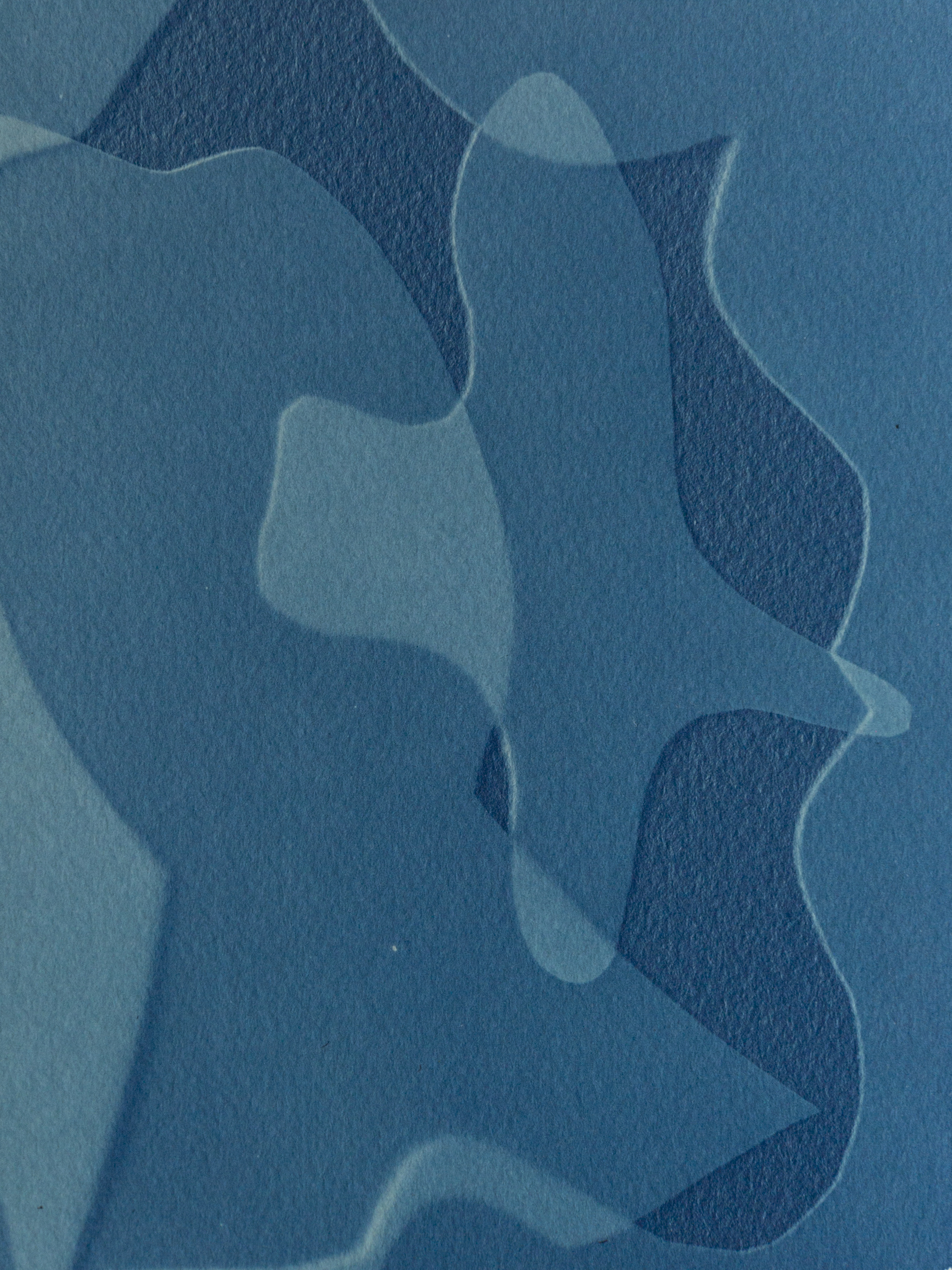 "intersect miniature II, cyanotype, watercolor paper, 6""x4"", 2019"