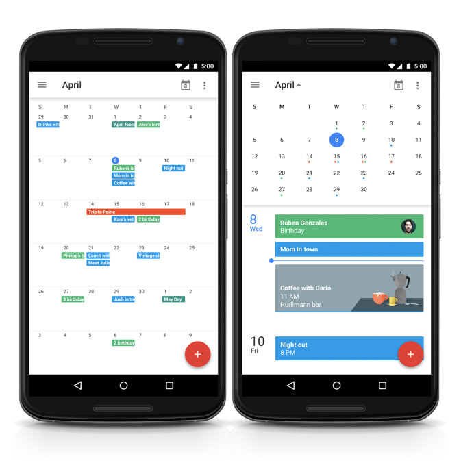Google calendar/planner   Having the dates be more apparent could help users find their favorite show's schedules faster.