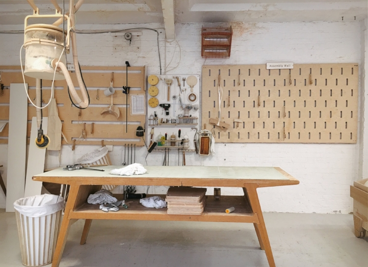 Image by  Kelly Chang,  clean and organised workshop at Unto This Last