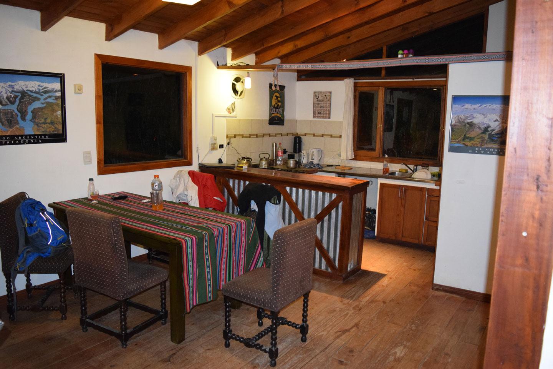 The living room at Patagonia Vieja, El Calafate