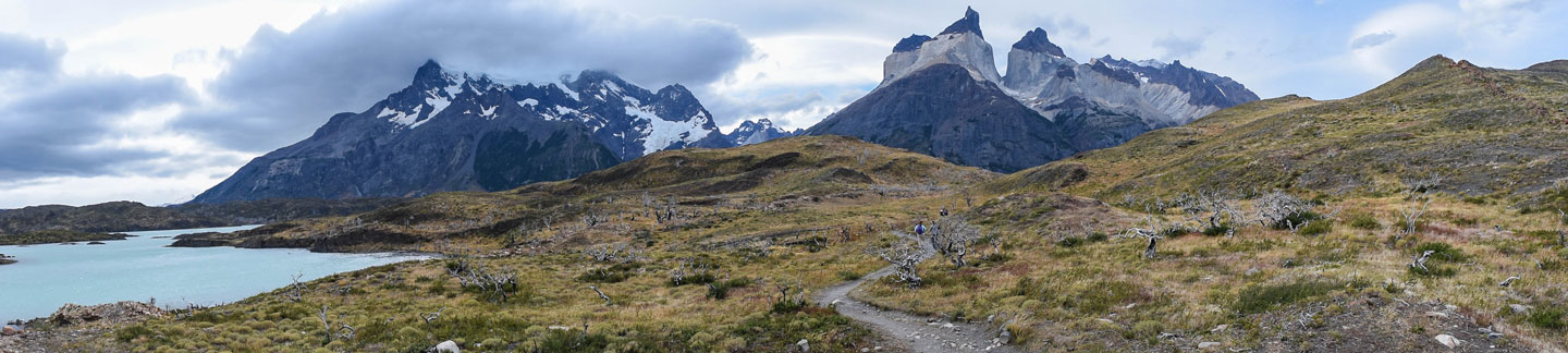 A panoramic shot of Torres del Paine National Park.