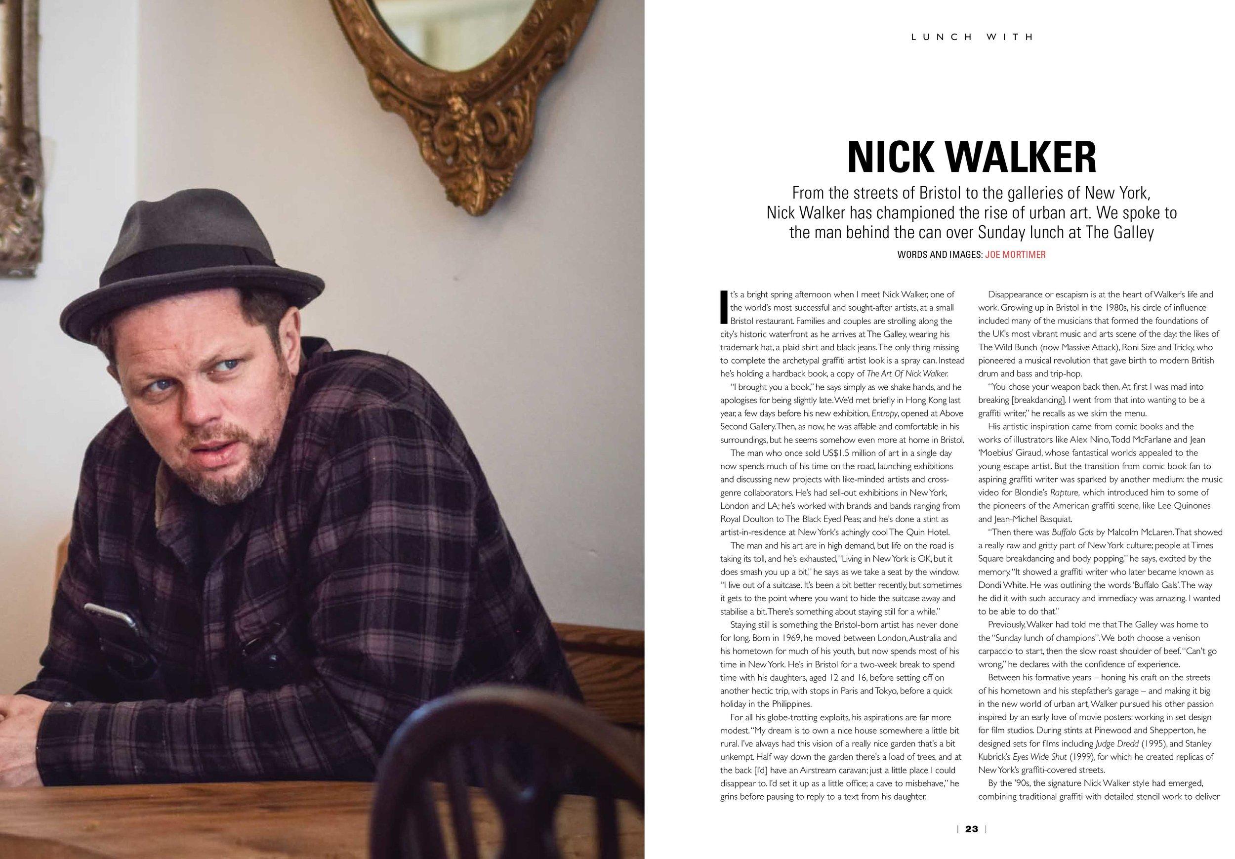 Lunch with Nick Walker, Open Skies