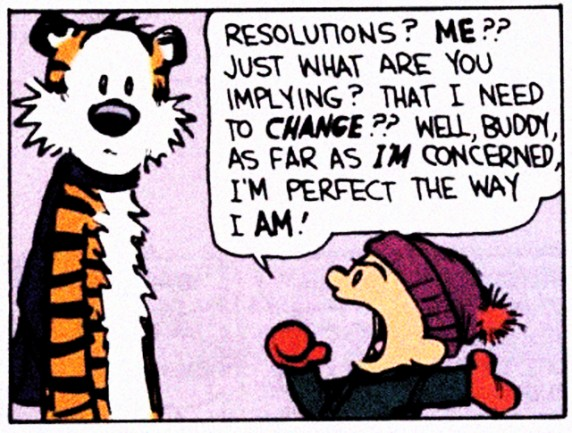 calvin hobbes, new years resolutions, will bratt counselling, counselling victoria bc