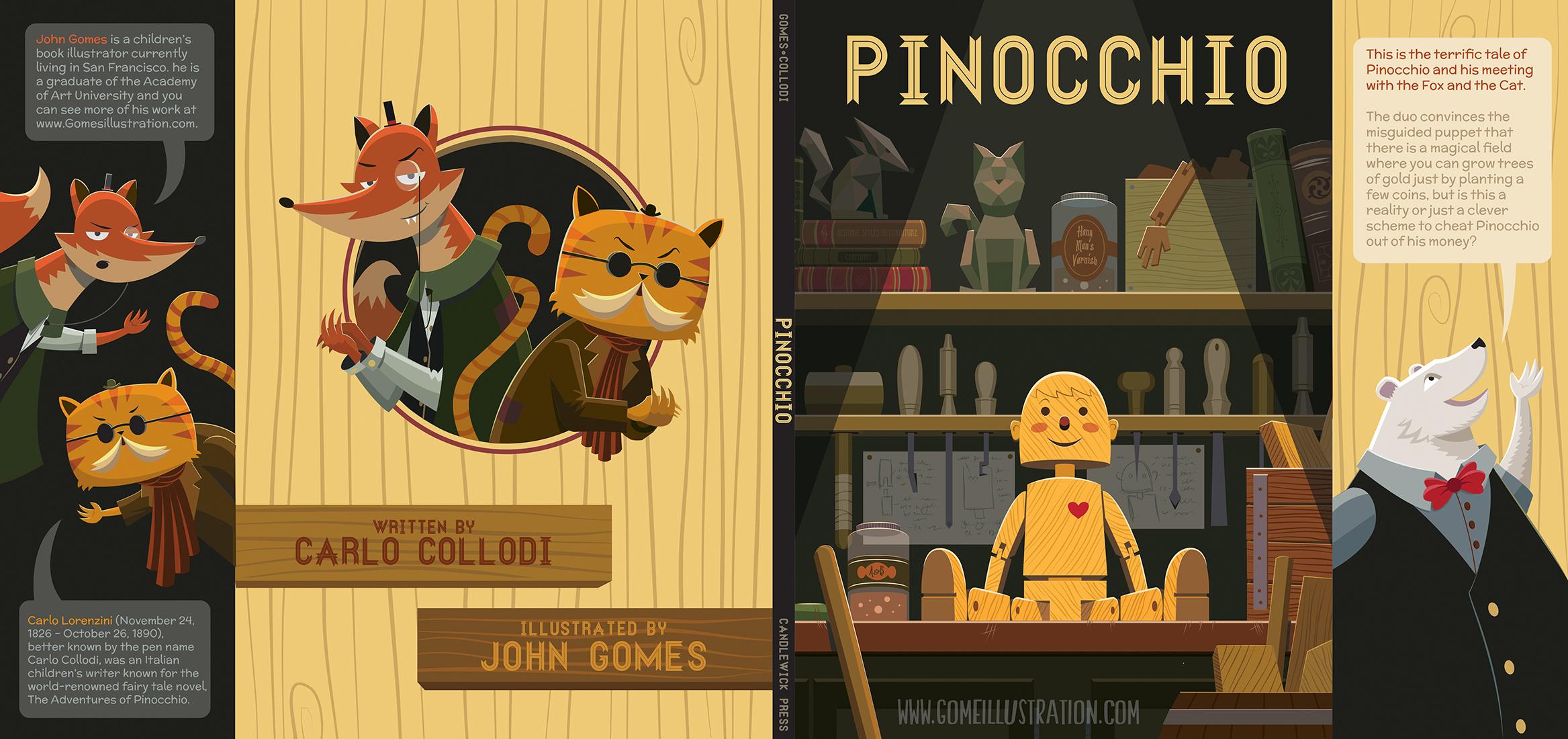 Pinocchio Book Jacket Mock Up